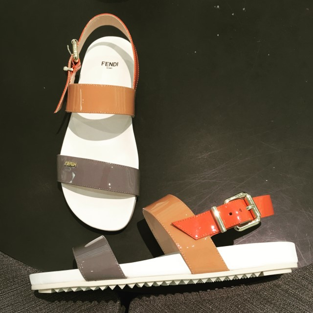 My first find of the trip.  Fendi sandals at half price from the Outlet mall.